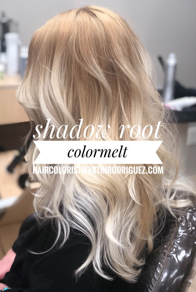 Shadow Root hair color melts with various tones for 2018