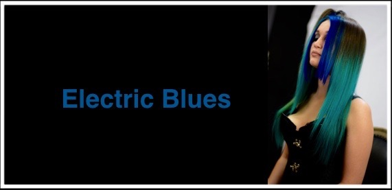 ELECTRIC BLUES MERMAID HAIR BY Dennis & Celia Gebhart Guru village